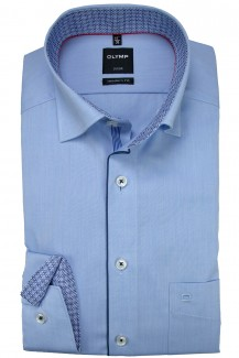 OLYMP Luxor modern fit Hemd Under Button-Down Rollkante bleu