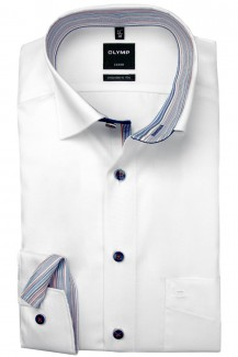 OLYMP Luxor modern fit 69er-Arm Hemd Under Button-Down weiß