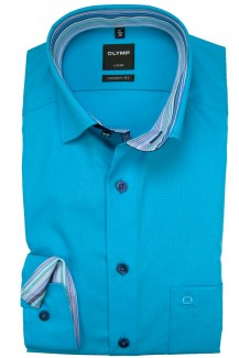 OLYMP Luxor modern fit Hemd Under Button-Down türkis