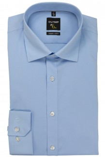 OLYMP No. Six super slim Hemd Under Button-Down hellblau