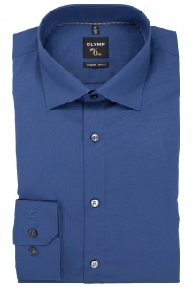 OLYMP No. Six super slim Hemd Under Button-Down rauchblau