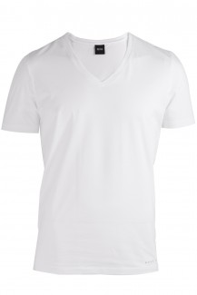 BOSS Hugo Boss Coolmax T-Shirt V-Ausschnitt slim fit weiß