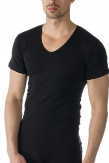 Mey Casual Cotton V-Shirt schwarz