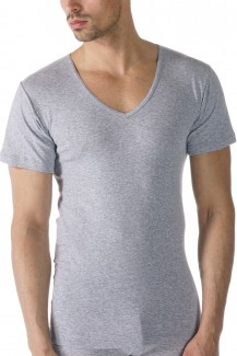 Mey Casual Cotton V-Shirt grey melange