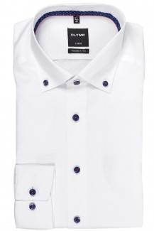 OLYMP Luxor modern fit Hemd Button-Down Fein Oxford weiß
