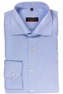 Eterna Cover Shirt 72er-Arm modern fit Kent bleu