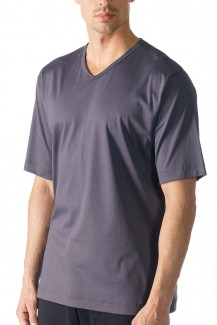 Mey Basic Lounge Shirt Halbarm soft grey