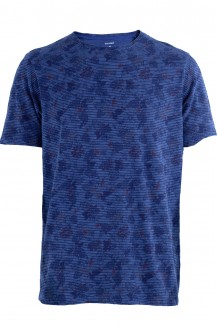 OLYMP T-Shirt modern fit Rundhals Tropical indigo