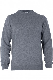 OLYMP Level Five Strick body fit Pullover Rundhals Cashmere silbergrau