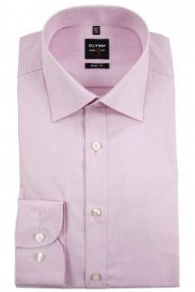OLYMP Level Five body fit Hemd New York Kent Chambray rosa