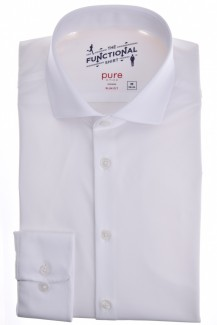 Pure Functional Shirt slim fit Haifisch in weiß