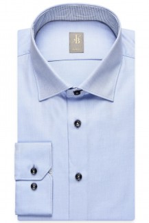 Jacques Britt Hemd Slim Fit Kent Patch Dreiecke bleu