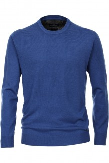 CASAMODA Strick modern fit Pullover Rundhals Cashmere Feeling royal