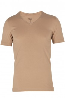 OLYMP T-Shirt Level Five body fit V-Ausschnitt nude