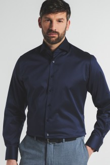 Eterna Premium Cover Shirt 1863 68er-Arm modern fit Kent nachtblau