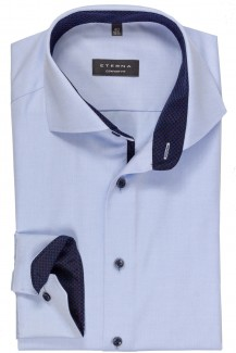 Eterna Cover Shirt comfort fit Haifisch mit Patch bleu