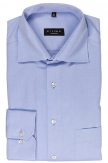 Eterna Cover Shirt comfort fit Kent bleu