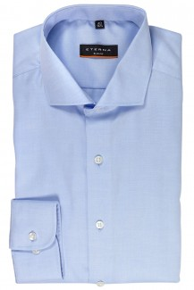 Eterna Cover Shirt slim fit Haifisch Kragen bleu