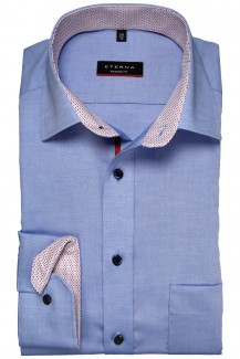 Eterna Hemd 68er-Arm modern fit Modern Kent Fein Oxford Patch mittelblau