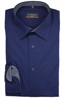 Eterna Hemd 72er-Arm slim fit Stretch Modern Kent marine