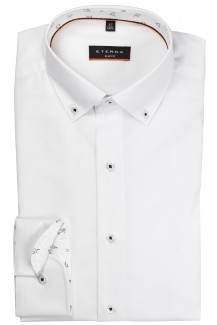 Eterna Hemd slim fit Button-Down WM-Spezial weiß