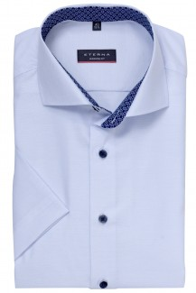 Eterna Kurzarm Cool Shirt modern fit Haifisch Kreise Patch bleu