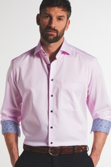 Eterna Lotus Shirt comfort fit Kent fuchsia Mosaik Patch rose