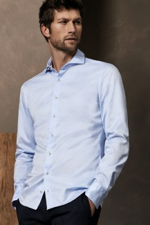 Eterna Premium Hemd 1863 Supersoft slim fit Haifisch bleu