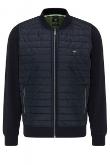 FYNCH-HATTON casual fit Cardigan-College Hybrid navy