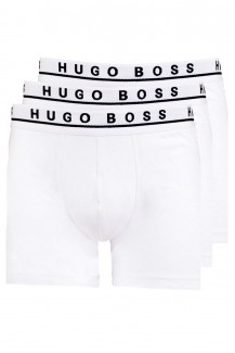 BOSS Hugo Boss Boxer Brief Cotton Stretch 3er Pack weiß