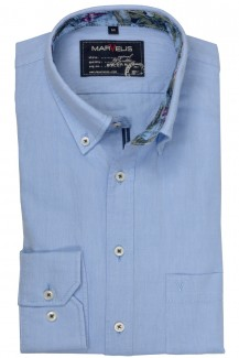 Marvelis Casual modern fit Hemd Button-Down Oxford bleu