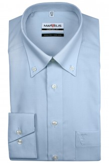 Marvelis comfort fit Hemd Button-Down bleu