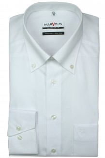 Marvelis comfort fit Hemd Button-Down weiß