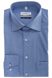 Marvelis comfort fit Hemd New Kent Chambray royal