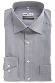 Marvelis comfort fit Hemd New Kent Chambray silbergrau