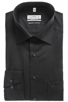 Marvelis Hemd comfort fit New Kent schwarz
