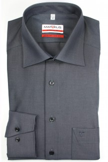 Marvelis modern fit Hemd New Kent Chambray anthrazit