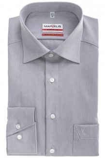 Marvelis modern fit Hemd New Kent Chambray silbergrau