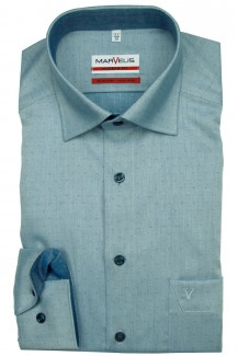 Marvelis modern fit Hemd Under Button-Down Micro Muster smaragd
