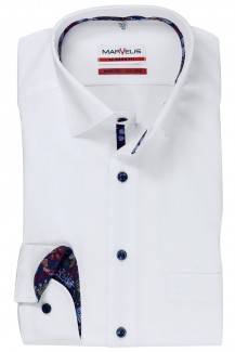 Marvelis modern fit Hemd Under Button-Down weiß