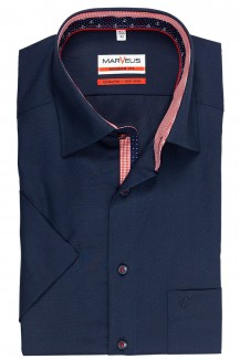 Marvelis modern fit Kurzarm Hemd New Kent Anker Patch marine