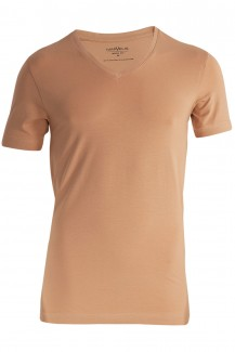 Marvelis T-Shirt body fit V-Ausschnitt Doppelpack nude