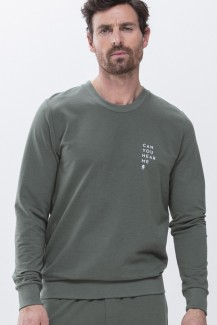 Mey Home-Office Sweatshirt dark forest green