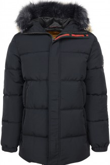 NO EXCESS modern fit Outdoor Parka motorblack