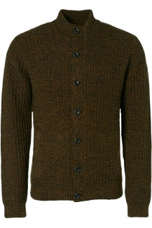 NO EXCESS Strick modern fit Cardigan Jacquard black-bronze