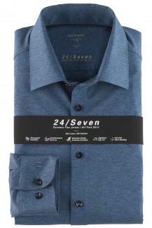 OLYMP 24/Seven Level Five body fit Jersey Hemd New York Kent jeans melange