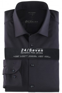 OLYMP 24/Seven Level Five body fit Jersey Hemd New York Kent marine