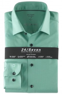 OLYMP 24/Seven Level Five body fit Jersey Hemd New York Kent resedagrün