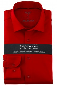 OLYMP 24/Seven Level Five body fit Jersey Hemd New York Kent rot melage