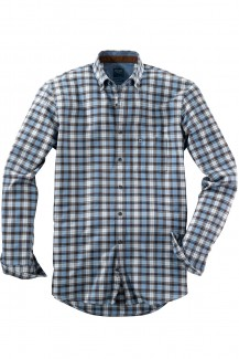 OLYMP Casual modern fit Hemd Button-Down Flanell braun-bleu